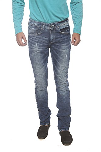 Spykar Mens Blue Skinny Fit Low Rise Jeans (34)  available at amazon for Rs.1039