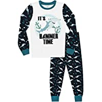 Harry Bear Boys Shark Pyjamas Snuggle Fit