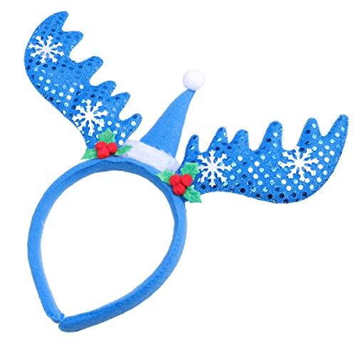 Lurrose Pailletten Weihnachten Haarreif Rentier Stirnband Hirsch Geweih Haarband Haarschmuck Kinder Erwachsene Kostüm Zubehör ()