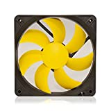 SilenX EFX-12-12 PC Housing Fan Fan, Cooler & Radiator Fan, radiator refoidisseurs (PC Housing Fan, 12dB, 1.08 W, Yellow, 8 – 12)