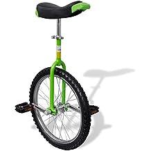 vidaXL Monociclo verde ajustable, 20 pulgadas