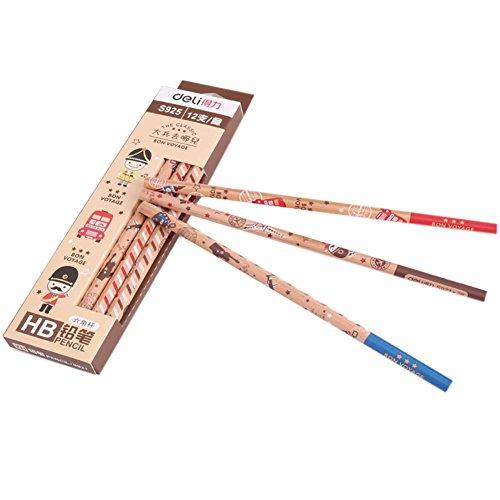 lot-de-2-belle-satinwood-crayons-hb-crayons-bois-cased