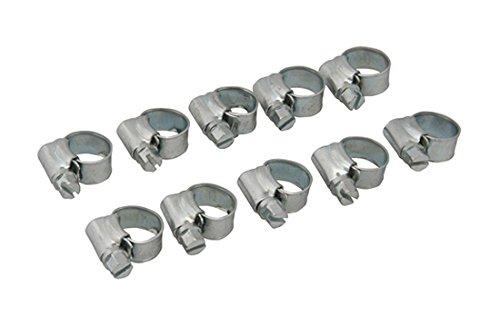 Fixman 304122 Lot de 10 Colliers de serrage, Gris