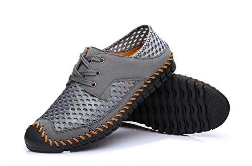 Pumpe Schlüpfen Loafer Netzgarn Mesh Sandalen Beiläufig Schuhe Männer Atmungsaktiv Hohl Schnürsenkel Pedal Schuhe Sneaker Sportschuhe Fahrschuhe Lazy Schuhe Eu Größe 38-44 Grey