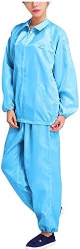 لباس تونيك للجنسين من LOPELY، سترة طويلة الأكمام برقبة على شكل حرف V + بنطلون لباس موحد للعمل بدلة واقية طبية