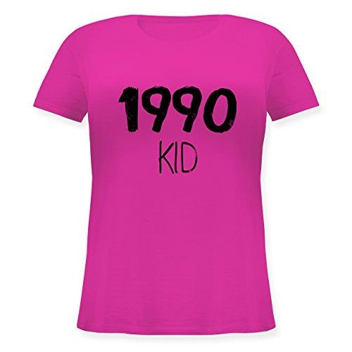 Geburtstag - 1990 KID - Lockeres Damen-Shirt in großen Größen mit Rundhalsausschnitt Fuchsia