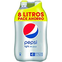 Pepsi Light Refresco de Cola sin Calorías - Paquete de 4 x 2000 ml - Total: 8000 ml