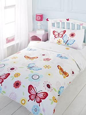 Butterfly 4 in 1 Junior Bedding Bundle (Duvet + Pillow + Covers)