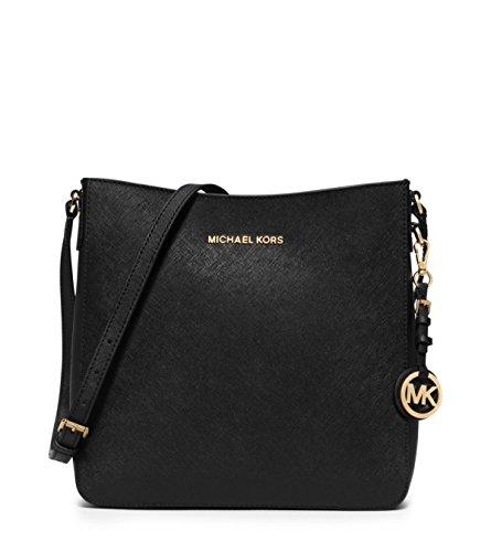 Michael Kors Handbag Jet Set Travel Large Saffiano Messenger Bag Black [Apparel] (Handtaschen Kors Michael Männer)