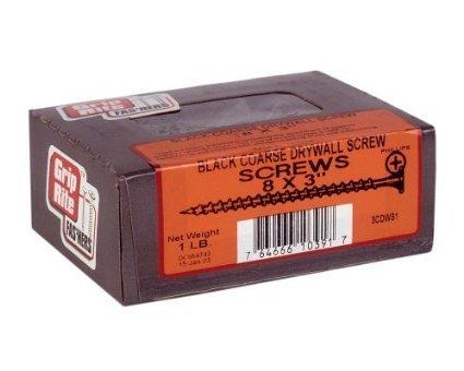 grip-rite-3cdws1-3-inch-8-coarse-thread-drywall-screw-with-bugle-head-1-pound-by-grip-rite