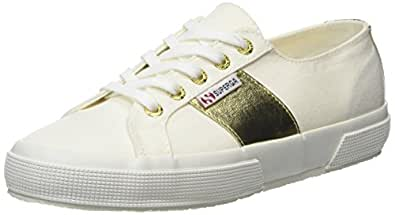 Superga 2750 Cotcotmetw Sneaker Donna Bianco White Gold A32 38 EU