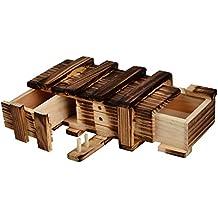 Caja Mágica de Manera con Dos Mágicos Cajones Secretos de Regalo Interesante Caja Almacenamiento de Joyería juguete del Rompecabezas Puzzle