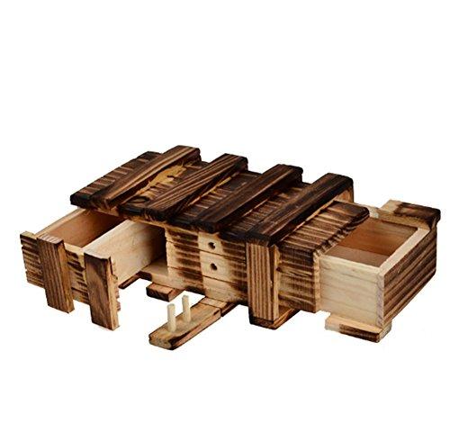 Beauty Magic Box Mode mit Zwei magische Schubladen Geschenk Geheimnisse interessante Schmuck Aufbewahrungsbox Puzzle Spielzeug