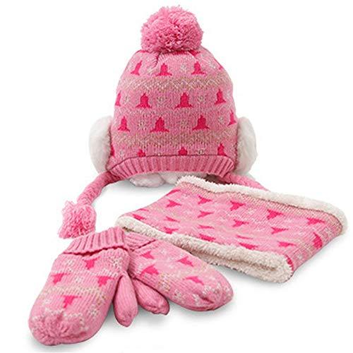 chal Handschuhe Dreiteilige Winter Baby Winter Hut Männlich Flut Plus Samtverdickung Mädchen Jungen, M ()