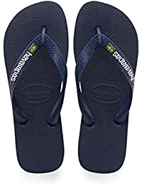 Havaianas Brasil Logo, Tongs Mixte Adulte Multicolore (PÉTROLE),35/36