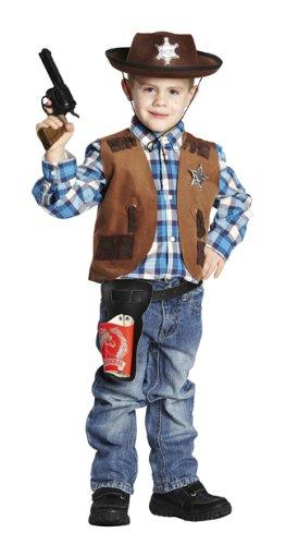 Rubie's Kinder Kostüm Weste Cowboy Sheriffweste Karneval Fasching Gr.128