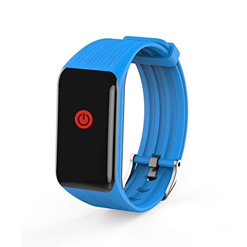 QL Bluetooth Fitness Tracker, Smart Watch SOS Sportuhr GPS, Geo-Zaun äLtere Tracker Touchscreen SchrittzäHler Kinderalarm Anti-Verlorene Uhr, 3 Farben Optional