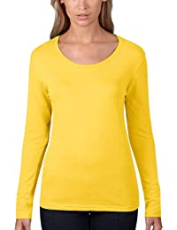 Anvil Women's Sheer Scoop Neck Long Sleeve T-Shirt