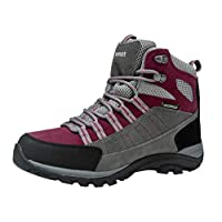 riemot Walking Boots for Men and Women, Fully Waterproof High Rise Outdoor Hiking Trekking Shoes Approach Shoes Lightweight Breathable