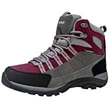 Botas de Senderismo y Campo para Mujers Zapatillas Altas de Trekking Zapatos de Montaña Escalada Aire