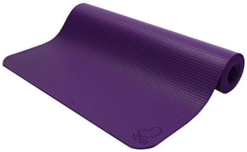 Pro Eco Guru Oder Yogi Premium Yogamatte, Pilates Jump Matte Hi Grip, die Naturkautschuk und Polymer Mischung Earth Friendly ungiftig. TM Bean Produkte, 24 x 73 Purple