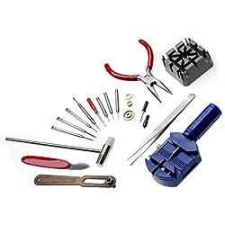 JZK® 16PCS Watchmaker Watch Repair Tools Kit Tool Set Opener Remover Spring Pin Bar