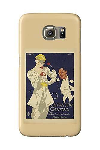 Lachende Herzen Vintage Poster (artist: Engelhard, Julius Ussy) Germany c. 1919 (Galaxy S6 Cell Phone Case, Slim Barely There) -
