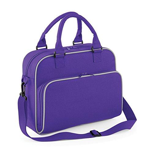 Retro Junior Reisetasche von BagBase, Drei Farben erhältlich Classic Pink/ Light Grey