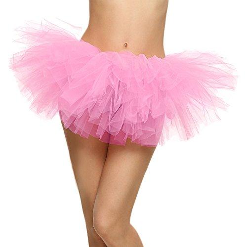 SRANDER Damen Tüllrock Tütü Tutu Petticoat 5 Schicht Ballet Tutu Tanz Röcke (Swing Kostüm Tanz)