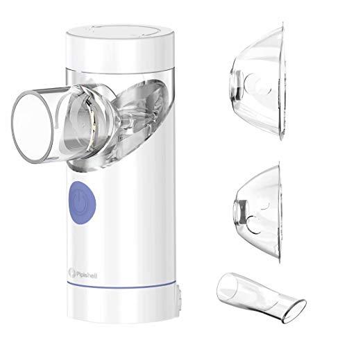 Geräuscharmer Inhalator Vernebler Set tragbares Inhalationsgerät für Kinder und Erwachsene Atemwegserkrankungen, Erkältung und Husten, Nebenhöhlenentlastung