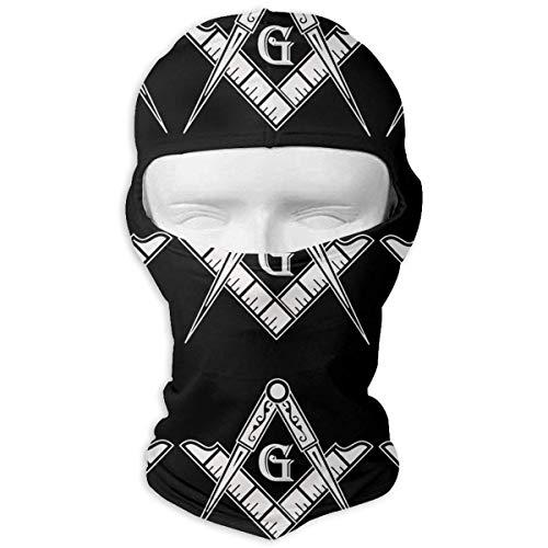 XIUZHIZH Freemason Logo Full Face Mask Hood,Outdoor Cycling Ski Motorcycle Balaclava Mask Sunscreen Hat Windproof Cap -