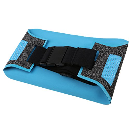MagiDeal Outdoor Sacchetto Sacche Esterno Sport Marsupio da Escursionismo Corsa Cintura Bum Vita Bag - Rosso Azzurro