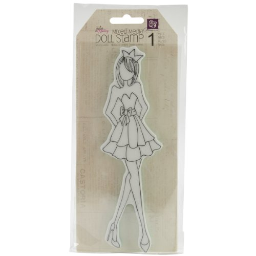 prima-marketing-foam-julie-nutting-mixed-media-cling-rubber-stamps-doll-2-strapless-dress-225-inch-x