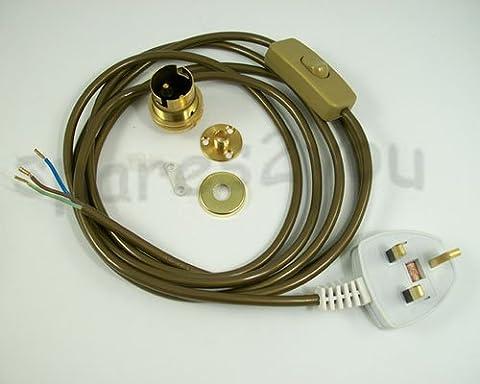 Lamp Kit 18 Brass for wooden lamp