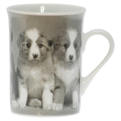 Tasse avec Motif Chiots Noir et Blanc, Tasse à Café, Gobelet, 250 ml