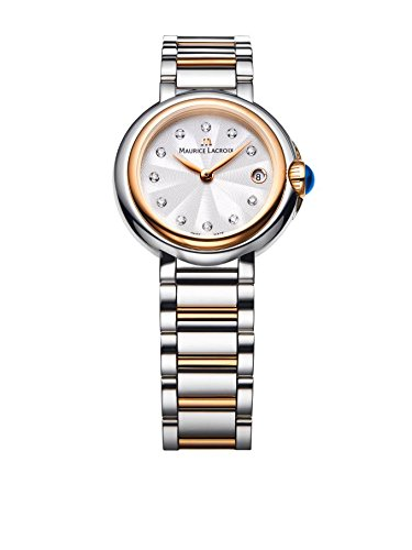 Maurice Lacroix FA1003-PVP13-150 Ladies Fiaba Round Two Tone Watch with Diamonds