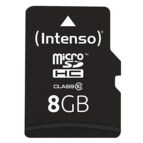 Intenso Micro SDHC 8GB Class 10 Speicherkarte inkl. SD-Adapter schwarz