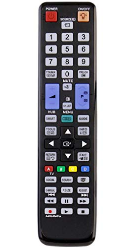 Allimity Ersatz-Fernbedienung AA59-00431A passend für Samsung LCD LED 3D TV PS51D8000FM PS59D8000FM UA46D7000LM UA55D7000LM PS51D8000FMXRD PS64D8000FM UA55D8000YM PS59D8000FMXRD PS51D8000FMXXY -