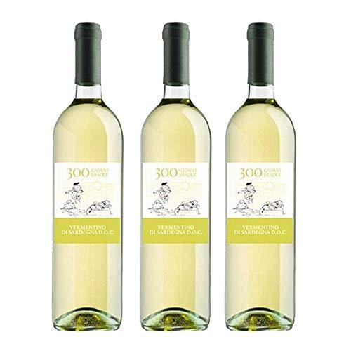 Vermentino di Sardegna D.O.C. - 300 giorni di sole - 3 bottiglie