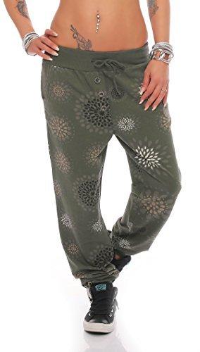 ZARMEXX Donna Boyfriend Pantaloni Con Bottoni Jeans Pantaloni Sportivi pantaloni Pantaloncini Fitness Yogapants Jogger Sweatpants Cascante Pantaloni Per Tempo Libero Pantaloni alla turca Taglia Unica