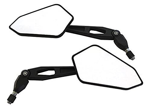Excellent Quality E-marked Naked & Supermoto Motorcycle Motorbike Wing Mirrors- Alchemy Parts Branded