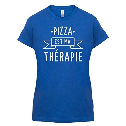 Une pizza est ma thérapie - Femme T-Shirt - 14 couleur Bleu Royal