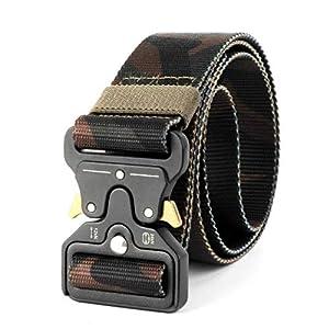 CHOUBAGUAI Taktischer Gürtel Getreideverstärkter Taktischer Nylongürtel Tactical Gear Heavy Duty Belt Außengürtelschutz Tactical