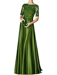 La mia Braut Traube Damen Spitze Langarm Abendkleider Brautmutterkleider  Promkleider A-Linie Lang Festlichkleider 06c60e2765
