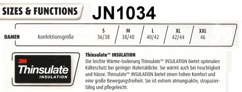 J&N - Thinsulate-wattierte Damen Steppjacke (JN1034) Marine/Rot