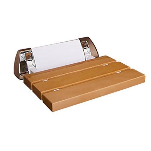 YFF ~ Necesidades diarias Taburetes plegables de ducha de pared Taburete de madera montado en la pared de la ducha Taburete para ancianos / minusválidos Taburete para asientos de ducha pesados Antideslizante Taburete Max. 150kg a salvo Suministros