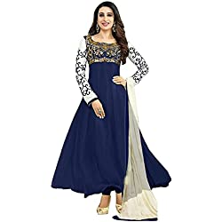 Aarvicouture Women's Georgette Semi-Stitched Anarkali Suit (Free Size)