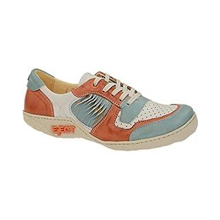 Eject Damen Schnuerschuhe Diamante Schuhe blau weiß orange Kombi 17584 blau 129507
