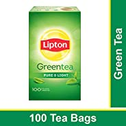 Lipton Pure and Light Green Tea Bags, 100 Pieces