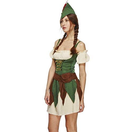 Imagen de disfraz robin hood mujer arquera xs 32/34 ropa caminante de los bosques ropa elfo cuento de hadas atuendo ladrona caracterización edad media alternativa